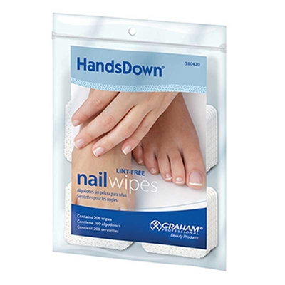 Graham Beauty - Hands Down Nail Wipes - 2 square - 200/bag