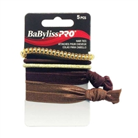 BaBylissPRO - Mixed Elastics Set - Brown and Gold Tones