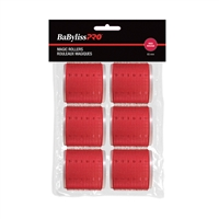 Babyliss Pro - Velcro Rollers - Red - 65mm - 6/Bag
