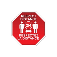 BaBylissPRO - Floor Signage - Respect Distance