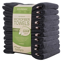 Dannyco - Eco-Friendly Microfiber Towels - 10/pack - Black