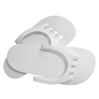 Dannyco - Foam Slippers with Non Skid Soles - White