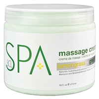 BCL Spa - Lemongrass Green Tea Massage Cream - 16oz