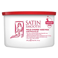 Satin Smooth - Wild Cherry Hard Wax - 14oz