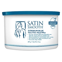 Satin Smooth - Titanium Blue Hard Wax - 14oz