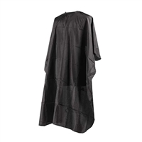 H&R - Nylon Black Cape With Velcro and Back Tie Closure