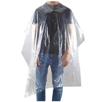 H&R - Clear Disposable Cape 130x160 - 50/pk