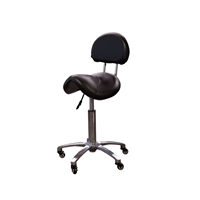 H&R - Saddle Stool With Backrest