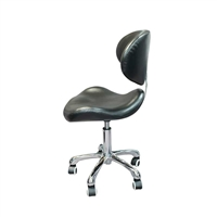 H&R - Stool With Backrest - Black