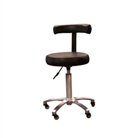 Silver Fox - Stool with Back Rest - Black